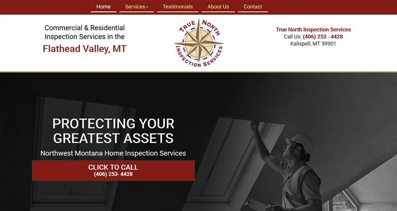 Website Express Kalispell Design Portfolio True North Inspection Services