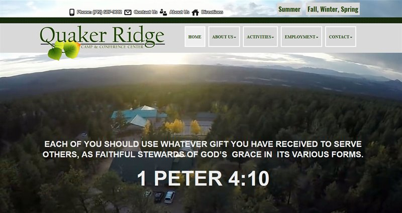 Website Express Kalispell Design Portfolio Quaker Ridge Camp