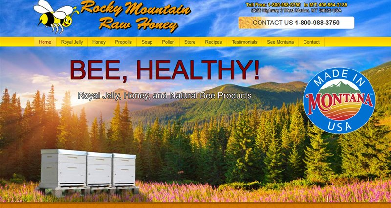 Website Express Kalispell Design Portfolio Rocky Mountain Raw Honey