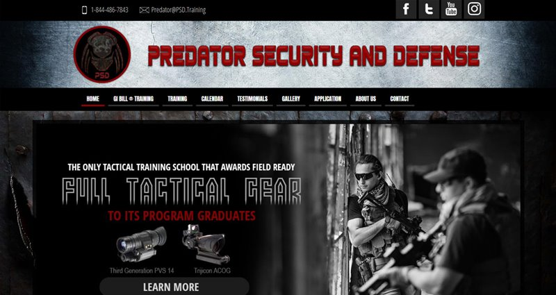 Website Express Kalispell Design Portfolio Predator Security and Defense