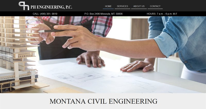 Website Express Kalispell Design Portfolio PH Engineering