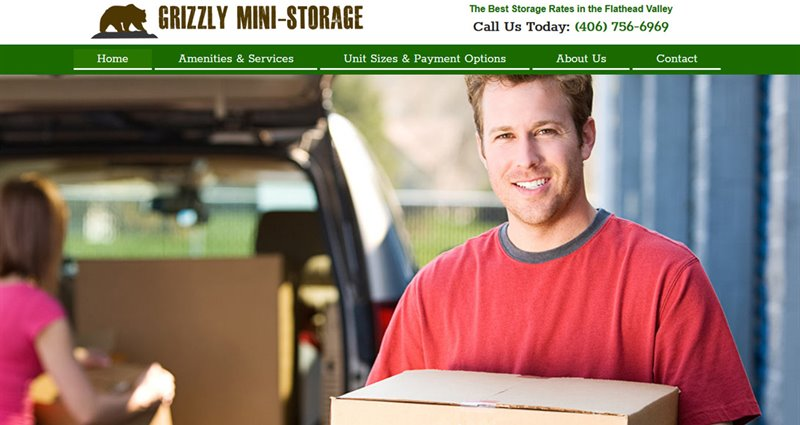 Website Express Kalispell Design Portfolio Grizzly Mini-Storage