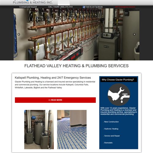 Glacier Plumbing and Heating - full home page