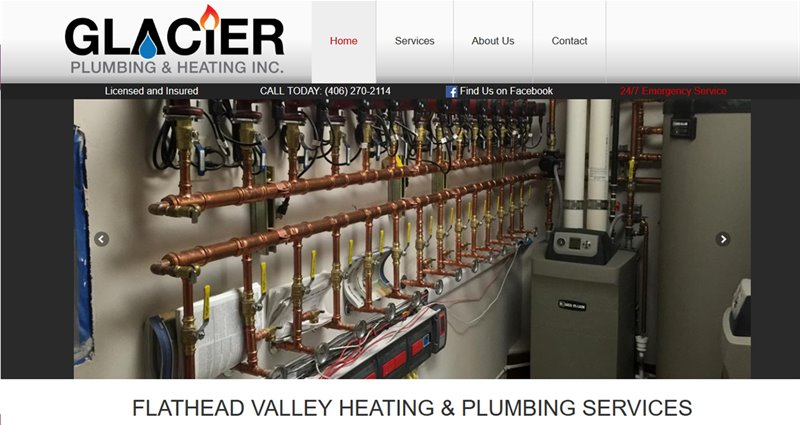 Website Express Kalispell Design Portfolio Glacier Plumbing and Heating