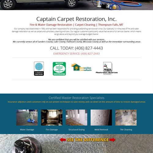 Captain Carpet - full home page