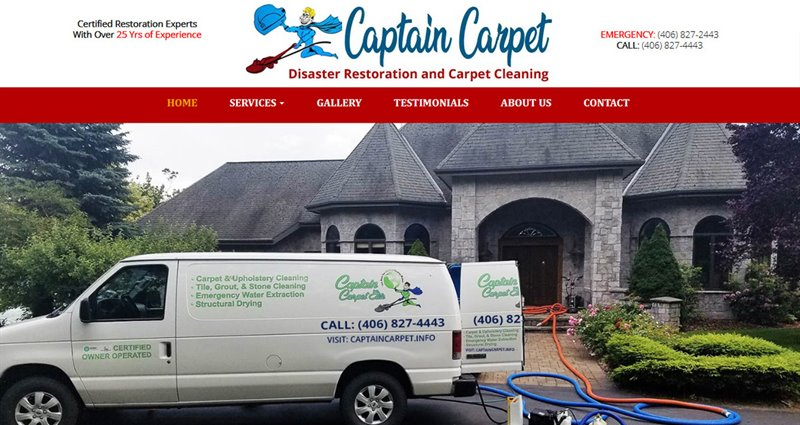 Website Express Kalispell Design Portfolio Captain Carpet