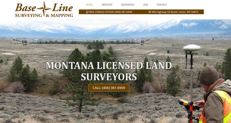 Website Express Kalispell Design Portfolio BaseLine Surveying