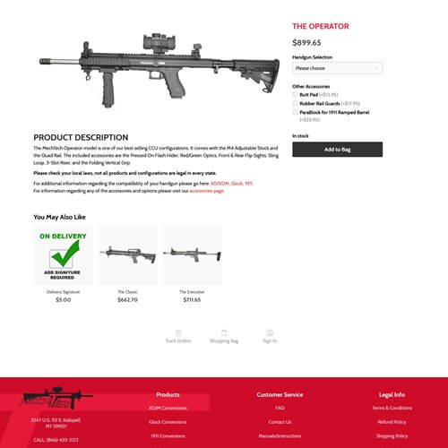 MechTech Systems - store product page