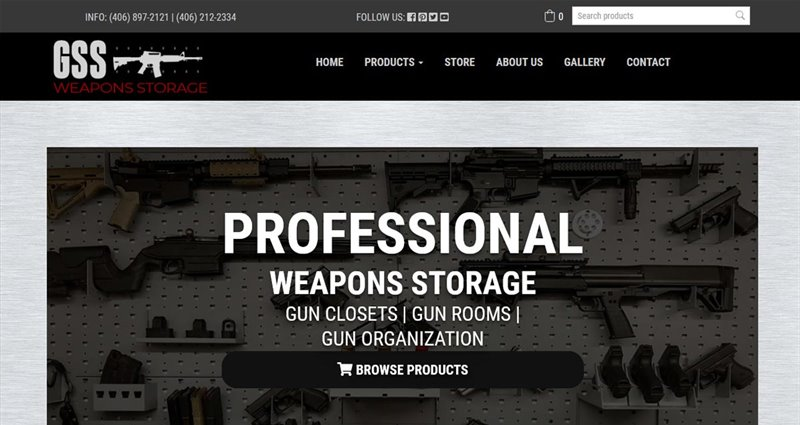 Website Express Kalispell Design Portfolio GSS Weapons Storage
