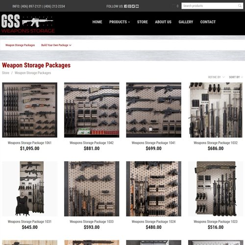 GSS Weapons Storage - store products page