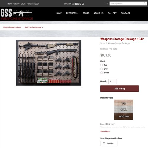 GSS Weapons Storage - store product page