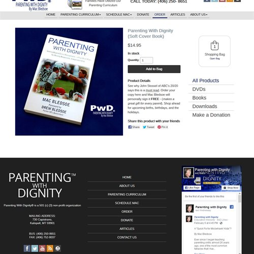 Parenting With Dignity - store product view