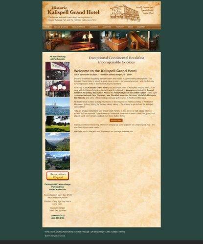 Kalispell Grand Hotel - old website home page