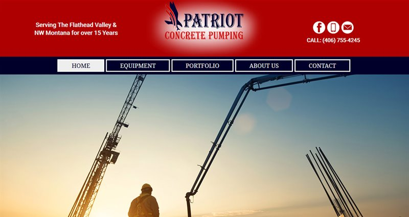 Website Express Kalispell Design Portfolio Patriot Concrete Pumping