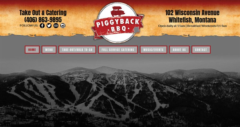 Website Express Kalispell Design Portfolio Piggyback BBQ