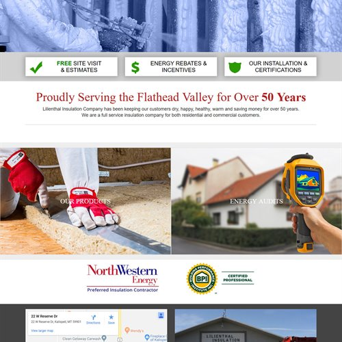 Lilienthal Insulation - full home page