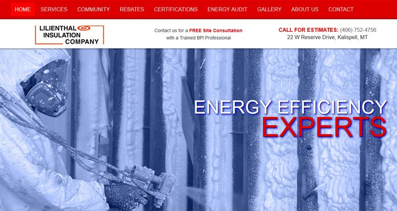 Website Express Kalispell Design Portfolio Lilienthal Insulation