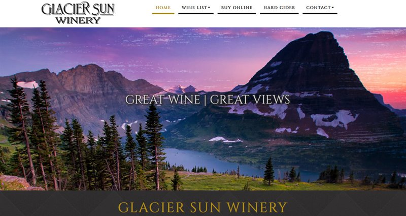 Website Express Kalispell Design Portfolio Glacier Sun Winery