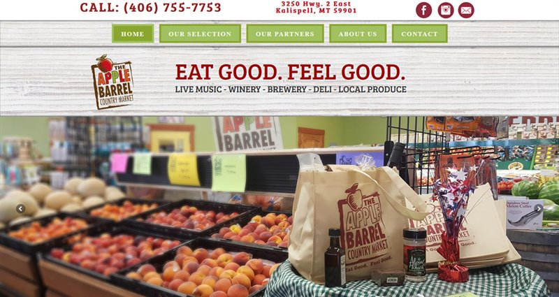Website Express Kalispell Design Portfolio The Apple Barrel