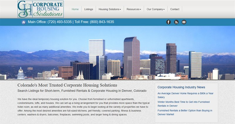 Website Express Kalispell Design Portfolio Corporate Housing Solutions