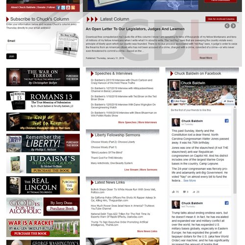 Chuck Baldwin Live - full home page
