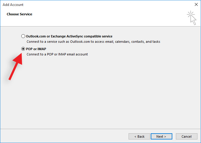 Secure E-mail Account Setup In Microsoft Outlook 2016